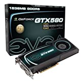 EVGA GeForce GTX 580 Superclocked 1536 MB GDDR5 PCI Express 2.0 2DVI/Mini-HDMI SLI Ready Limited Lifetime Warranty Graphics Card, 015-P3-1582-AR