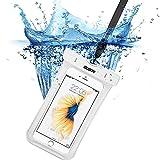 iphone7/6s 防水ケース, ESR IPX8 防水力抜群 水、お湯、雪や埃等完璧にシャットアウト ストラップ付属 6センチ以下全機種対応(ホワイト)