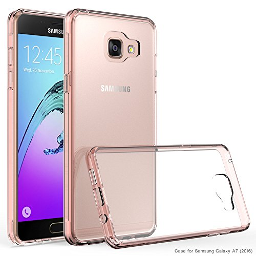 Samsung Galaxy A7 (2016) / A710F Case, INNOVAA Luminous Crystal Clear Series Bumper Case (Not Compatible with Samsung Galaxy A7 (2015) / A700) W/ Free Screen Protector & Stylus Pen - Clear Pink