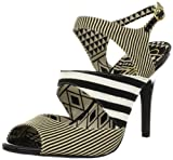 Jessica Simpson Women's Philomena Sandal,Black White,6 M US