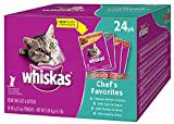 Whiskas Pouch Variety Pack Wet Cat Food, 24ct