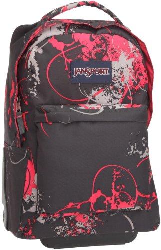 JanSport Wheeled Superbreak School Backpack (Grey Tar Flitter)