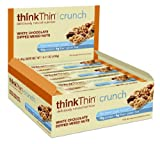 thinkThin Crunch White Chocolate  Mixed Nuts, Gluten Free, 1.41-Ounce Bars (Pack of 10)
