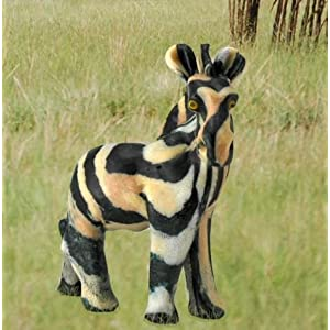 Imported African Handmade Zebra Safari Animal Candle, medium