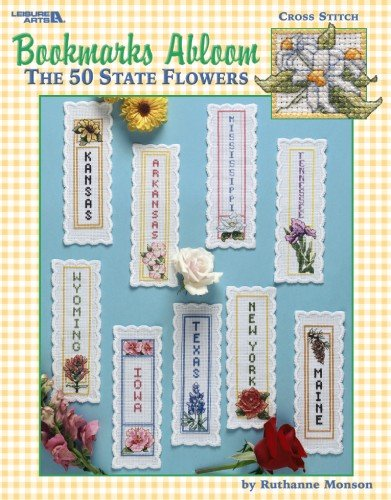 bookmarks-abloom-the-50-state-flowers-leisure-arts-3395