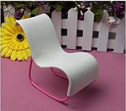 Qiyun White Rocking Beach Chair Detachable For Barbie Dolls Dollhouse Furniture