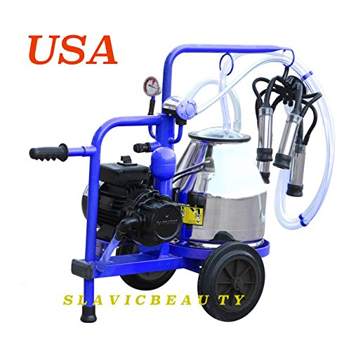 Stainless Steel Mini Milking Machine 5.3 Gal for Cows 120V Complete USA SHIPPING+FREE EXTRAS (Milking Machine compare prices)