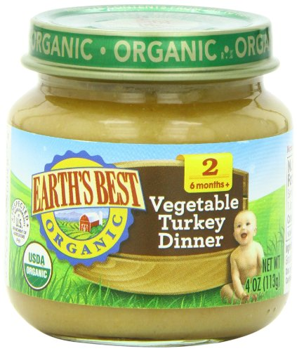 Earth's Best Organic Stage 2, Vegetable & Turkey Dinner, 4 Ounce Jar (Pack of 12) (Dinner Food compare prices)