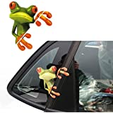 Bessky 3D Peep Frog Funny Car Stickers Truck Window Decal Graphics Sticker