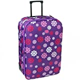 Extra Large 30&#8221; Lightweight Expandable Suitcase (Daisy Purple)