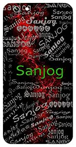 Sanjog (Coincidence) Name & Sign Printed All over customize & Personalized!! Protective back cover for your Smart Phone : Apple iPhone 5/5S