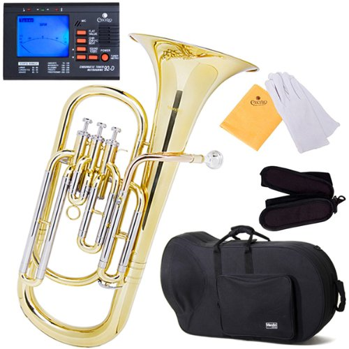 mendini-mbr-30-intermediate-brass-b-flat-baritone-with-stainless-steel-pistons