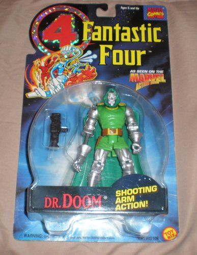 Buy Low Price Toy Biz Fantastic Four Dr. Doom Figure With Shooting Arm Action (B0018Z0A9W)