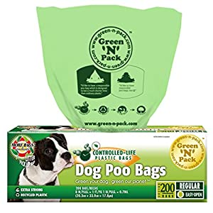 Green N Pack 200 Dog Waste Bag, Dog Poop Bags (Easy Pull & Easy Tear)