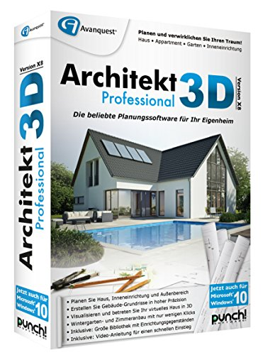 architekt 3d x8 professional. Black Bedroom Furniture Sets. Home Design Ideas