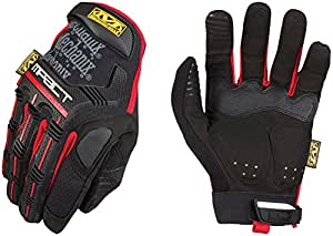 Mechanix Wear M-Pact Work Gloves, Small, Black/Red