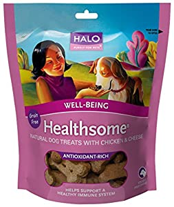Halo Liv-a-Littles Healthsome Well-Being Natural Treats for Dogs, Chicken & Cheese, 6oz