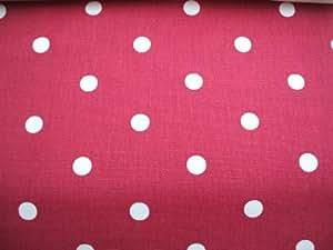 THE TABLECLOTH SHOP Cherry Red Polka Dot Oilcloth Tablecloth 2 Metres