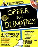 img - for Opera For Dummies [Paperback] [1997] (Author) David Pogue, Scott Speck book / textbook / text book
