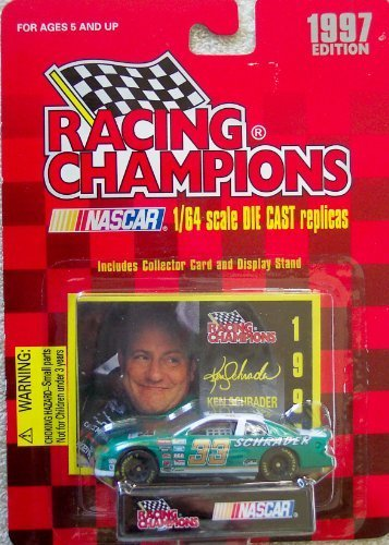Racing Champions 1/64 scale diecast with collectible card 1997 Edition #33 Ken Schrader - 1