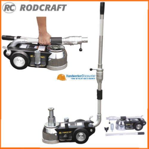 Rodcraft Faltbarer und transportabler Luft-Hydraulischer-Wagenheber