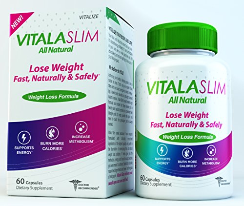 Vitala Slim All Natural Weight Loss Appetite Suppressant - Garcinia Cambogia, Raspberry Ketones, Triphala, African Mango, Saffron, Green Tea, Cinnamon, Green Coffee Beans