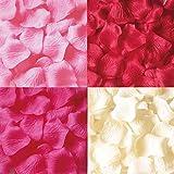 フラワーシャワー4色1200枚セット結婚式・2次会・パーティーの演出に花びら・ローズペダル{レッド・ローズピンク・ピンク・ホワイト} ランキングお取り寄せ