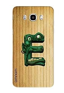 Omnam Single Name Stylish Alphabet E Printed Designer Back Cover Case For Samsung Galaxy J5 (2016)