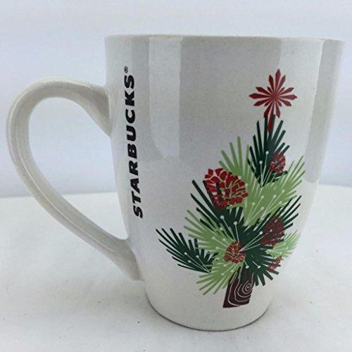 2011 Starbucks Christmas Coffee Mug Pinecones Retired Cup 16 OZS