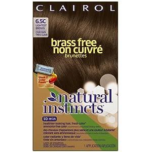 Clairol Natural Instincts Brass Free, 6.5C, Lightest Brown