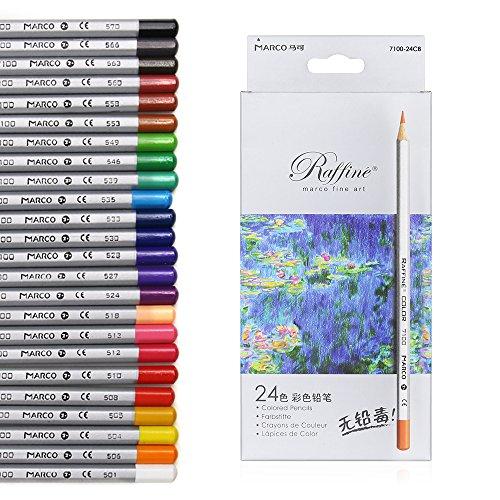 xcsource-matite-colorate-24-colori-matite-arte-colorato-disegno-di-disegnatore-disegni-olio-base-adu