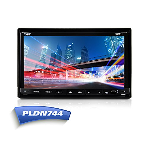 Pyle PLDN744 7-Inch Double Din Car Stereo In Dash CD DVD Player Motorized Slide-Down Touch Screen Video (Dvd Player For Car Motorized compare prices)