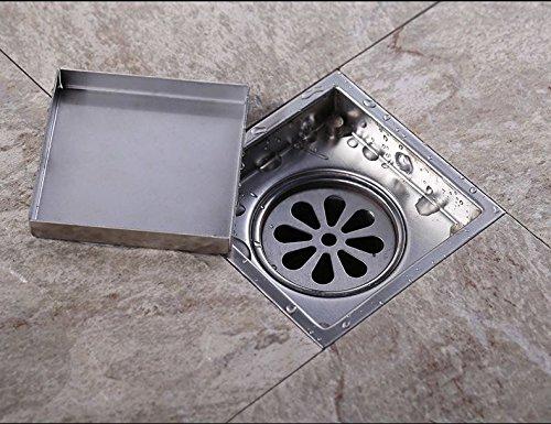 Spazzolato mjj Nickle Bagno doccia in piano di scarico di forma quadrata,150mm Luxury classic la resistenza alla corrosione di risolvere diversi tipi di problemi