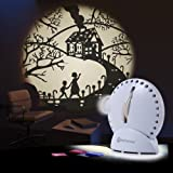 Mathmos Space Projector in White Space Projector with Slide Pack 'Fairy Tales'