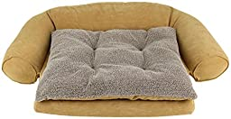 CPC Ortho Sleeper Medium Comfort Couch with Removable Cushion, Caramel