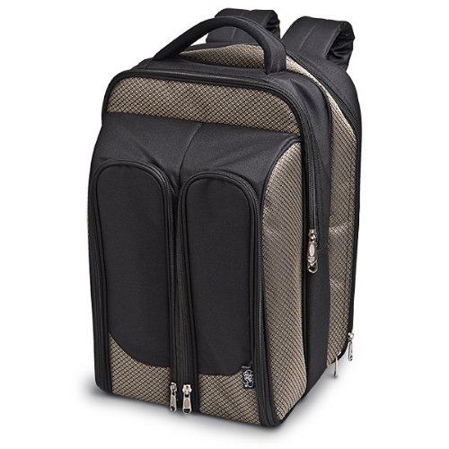 Buy Discount Wine Picnic Tweed Backpack For Two