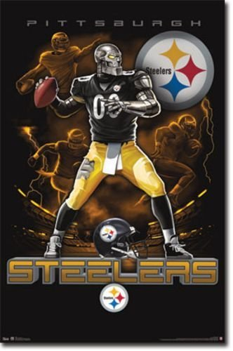 Pittsburgh Steelers Quarterback Mascot Football Poster at Amazon.com