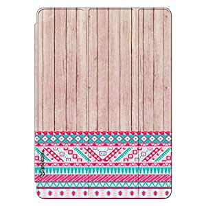 Enthopia Designer Front Smart Cover Woody 2 Aztec 13 Back Cover for Ipad Air with Transparent Back Case