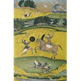 Nat Ragini showing a mounted warrior in combat with a foot soldier (Print On Demand)