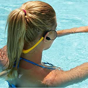 Expower(R) IPX8 8GB Waterproof MP3 Music Player Headset Earphone FM Radio for Swimming, surfing, Running, Sports (Yellow MP3)