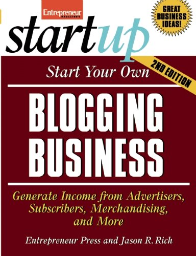 Start Your Own Blogging Business (StartUp Series): Entrepreneur Press: 9781599183763: Amazon.com: Books