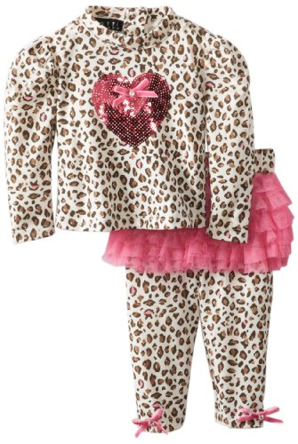 #1 Biscotti Baby-Girls Newborn Party Animal Top and Legging, Pink, 9 Months  Review