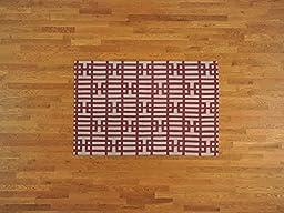 4\'x6\' Geometric Design Durie Kilim Hand Woven Flat Weave Oriental Rug G18567