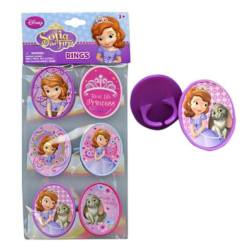 Disney Princess Sofia the First Ring Cupcake Topper (Set of 6) - 1
