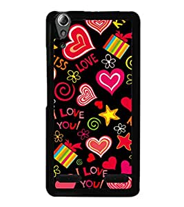 printtech I Love You Heart Gift Back Case Cover for Lenovo A6000 Plus