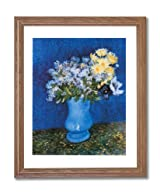 Vincent Van Gogh Blue Vase Flower Wall Home Decor Wall Picture Oak Framed Art Print