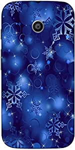 Snoogg Snowflakes 2699 Case Cover For Moto E