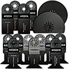 15pc Mixed Saw wood bi-metal precision Pack Oscillating Multitool Blades Fits Fein Multimaster Makita Genesis Bosch Dremel Craftsman Bolt-on Nextec Ridgid Ryobi Makita Milwaukee Dewalt Rockwell Hyperlock Chicago Stainley Skil King Canada Multi Tools
