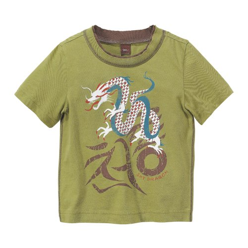 Tea Collection Yong Dragon Graphic Tee, Lawn, 12-18 Months