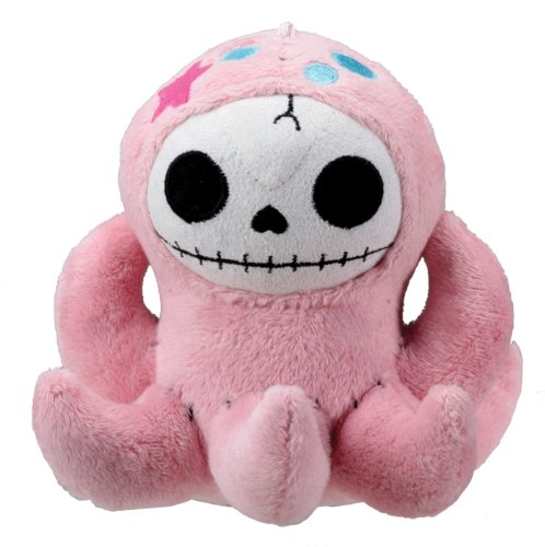 Small Pink Octopus Octopee Furry Bones Collectible Stuffed Plush Doll